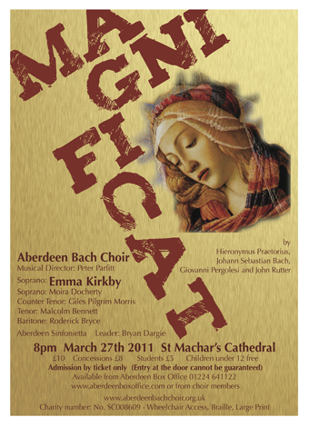 Magnificat March 2011 Poster