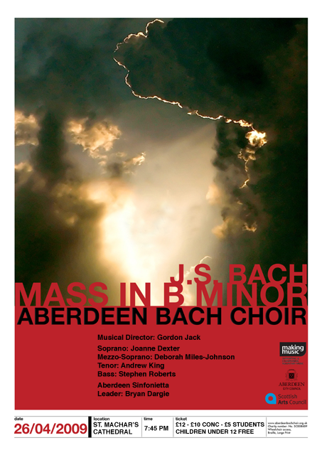 J.S. Bach - Mass in B Minor Sunday 26 April 2009 in St Machar's Cathedral